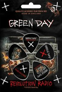 Green Day Set of 5 Plectrum Pack / Guitar Picks (rz)