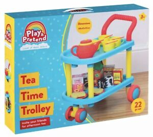 22Pcs Play & Pretend Tea Time Trolley Play Set Ideal Gift For Kids / Childrens