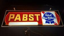 Vintage PABST BLUE RIBBON Hanging Lit Lighted 1970's Sign