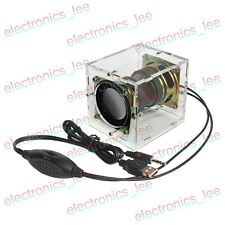 DIY 5V 3W*2 Primary mini computer speaker transparent sound box making kit