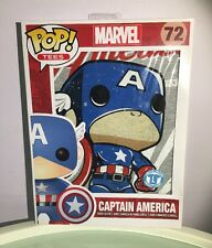 Funko Pop #72 Captain America Short Sleeve Tees & Mini Standee Collector Card