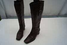 ARA Damen Stiefel Schuhe Leder dunkelbraun schick vintage Gr.4,5 H 37,5 TOP ovp