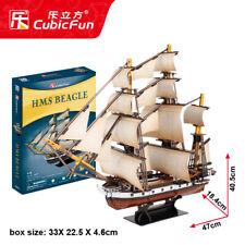 Cubic Fun 3D Puzzle T4027H HMS Beagle,Model Ship/Boat Jigsaws,DIY Toys,186 PCs