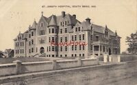 Postcard St Joseph Hospital South Bend IN 1909