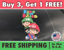 Super Mario Kids On Board Bumper Sticker, Kids on Board Super Mario Car Decal