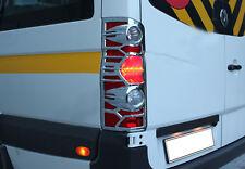 Cubierta de llanta trasera Cromo ABS Lámpara 2 un. se adapta a 2006-2012 VW Crafter