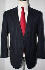 Brooks Brothers Golden Fleece Blue Striped 2 Button Wool Suit 41 R 35 30 Pants