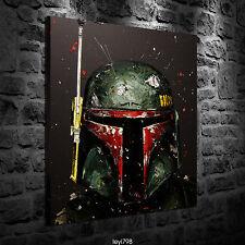 Oil painting HD Print on Canvas Art,Star Wars Boba Fett 12x16inch - Unframed