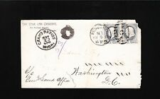Star & Crescent Cover & Subscription Brooklyn TOB 1883 Forwarded Backstamps 5z