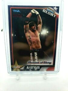 TNA AJ Styles #38 2013 Impact Wrestling GLORY RED Parallel Card SN 28/40