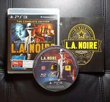 LA Noire L.A. Noire The Complete Edition Sony PlayStation 3 PS3 - *German Manual