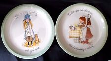 1972 Holly Hobbie Collector's Edition Plates Usa American Greetings Set of 2