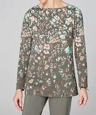 J. JILL   2X top pure jill fall floral organic cotton tunic boat neck  NWT