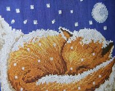 Counted Cross Stitch Chart Pattern: Red Fox on Fallen Snow Just Cross Stitch
