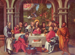 """perfect 36x24 oil painting handpainted on canvas """"the last supper""""10513"""