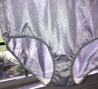 Vtg Fruit Of The Loom Nylon Brief Panty Hi Cut Lavender Purple Sz 10 Semi Sheer
