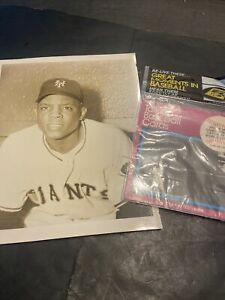 TOUGH 1960's-70's WILLIE MAYS LOT W/SEPIA GLOSSY 8X10 GIANTS PHOTO & '79 MIP '33