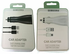 Retail Samsung Dual Port Fast Charge Car Charger + USB-C Cable For S8, Pixel, G5