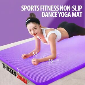 Yoga Pad Non-Slip 20 mm Exercise Mat Extra Thick Gym Pilates Fitness NRB Quality