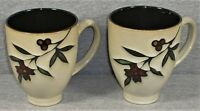 Gibson Elite Kaity Blossoms Mug - Red Flowers & Berries - LOT of 2