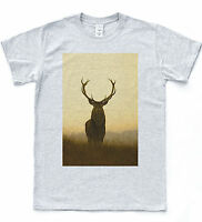 Stag Deer Morning T-shirt Indie Retro Nature Hipster Tee Vintage