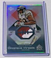 2004 Reflections Offensive Threads LTD Jersey Patch David Boston /21 Dolphins