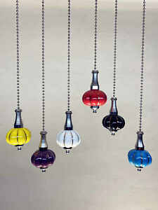 Light Pull Cord Ceramic pumpkin Chain Bathroom Ceiling Fan Switch Pull Handle