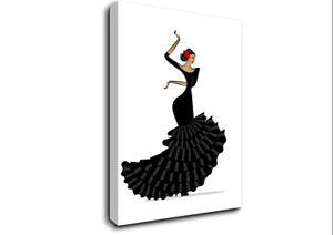 Flamenco 5 Dance 15811 Canvas Print Wall Art