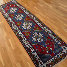 Turkish Hand-knotted Vintage Traditional Oriental Wool runner rug 290 X 70cm