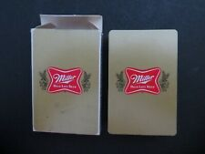 Vintage Playing Cards Miller High Life Used Complete W 2 Jokers