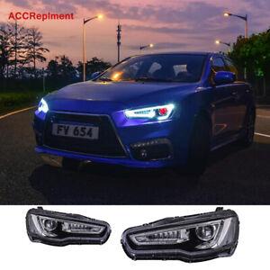 For Mitsubishi Lancer Headlights assembly 2009-2016 Hi/Lo Projector LED DRL