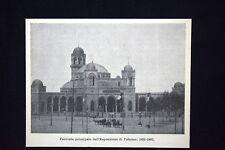 Facciata principale dell'Esposizione di Palermo, 1891-1892