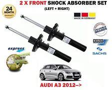 FOR AUDI A3 S3 8V1 8V3 2012->NEW 2 x FRONT LEFT RIGHT SHOCK ABSORBER SHOCKER SET