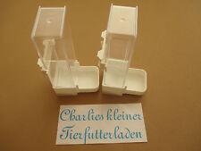 2 Stück Futterautomat- oder Wasser von  Quiko Tränke eckig