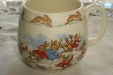 Vintage Royal Doulton Bunnykins Snow Scene Cup