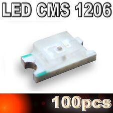 180/100# LED CMS 1206 rouge -180mcd -SMD RED - 100pcs