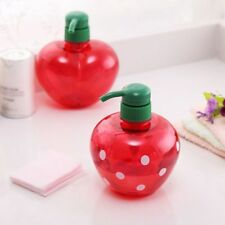 500ml Soap Dispenser Split Empty Pump Bottle Strawberry Shampoo Shower Container