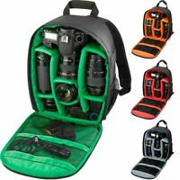 Large DSLR Outdoor Waterproof Camera Backpack Shoulder For Nikon Canon Bag L1Y0