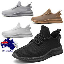 Men's Tennis Shoes Non Slip Breathable Knitted Hiking  Running Exercise Sneakers