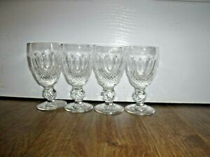 """Set Of 4 Waterford Crystal Colleen Short Stem Sherry Glasses ~ 4.25"""" ~ Excellent"""