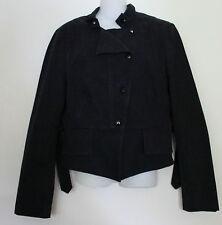 DAY BIRGER & MIKKELSEN ~ Danish Black Stretch Cotton Moto Jacket ~ 40 12 Large