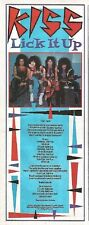 KISS Lick It Up lyrics magazine PHOTO / mini Poster 11x4 inches
