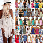 Various Women Holiday Mini Playsuit Jumpsuit Celeb Casual Summer Beach Dress