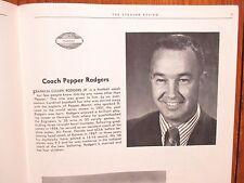 PEPPER  RODGERS  1970 Kansas/Syracuse Univ. Football Program(BEN SCHWARTZWALDER)
