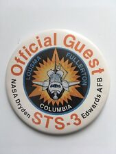 NASA SPACE SHUTTLE COLUMBIA STS - 3 EDWARDS AFB - OFFICIAL GUEST PIN BADGE