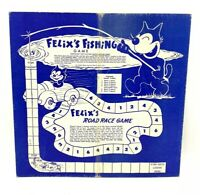 Vintage 1956 The Cat Felix's Fishing Game Board Double Sided For Boys and Girls
