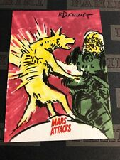 2013 Topps Mars Attacks Invasion Sketch Card 1/1 Ryan Dening Mars Attacks Artist
