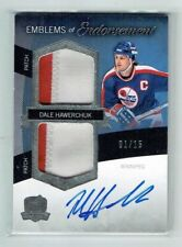 12-13 UD The Cup Emblems of Endorsement  Dale Hawerchuk  1/15  Auto  Patches HOF