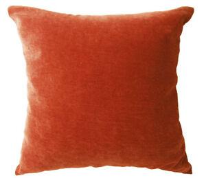 Ma16a Orange Soft Velvet Cotton Blend Cushion Cover/Pillow Case*Custom Size*