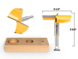 "3-1/4"" Diameter Carbide Forstner Drill Bit - 10mm Shank - Yonico 43071C"